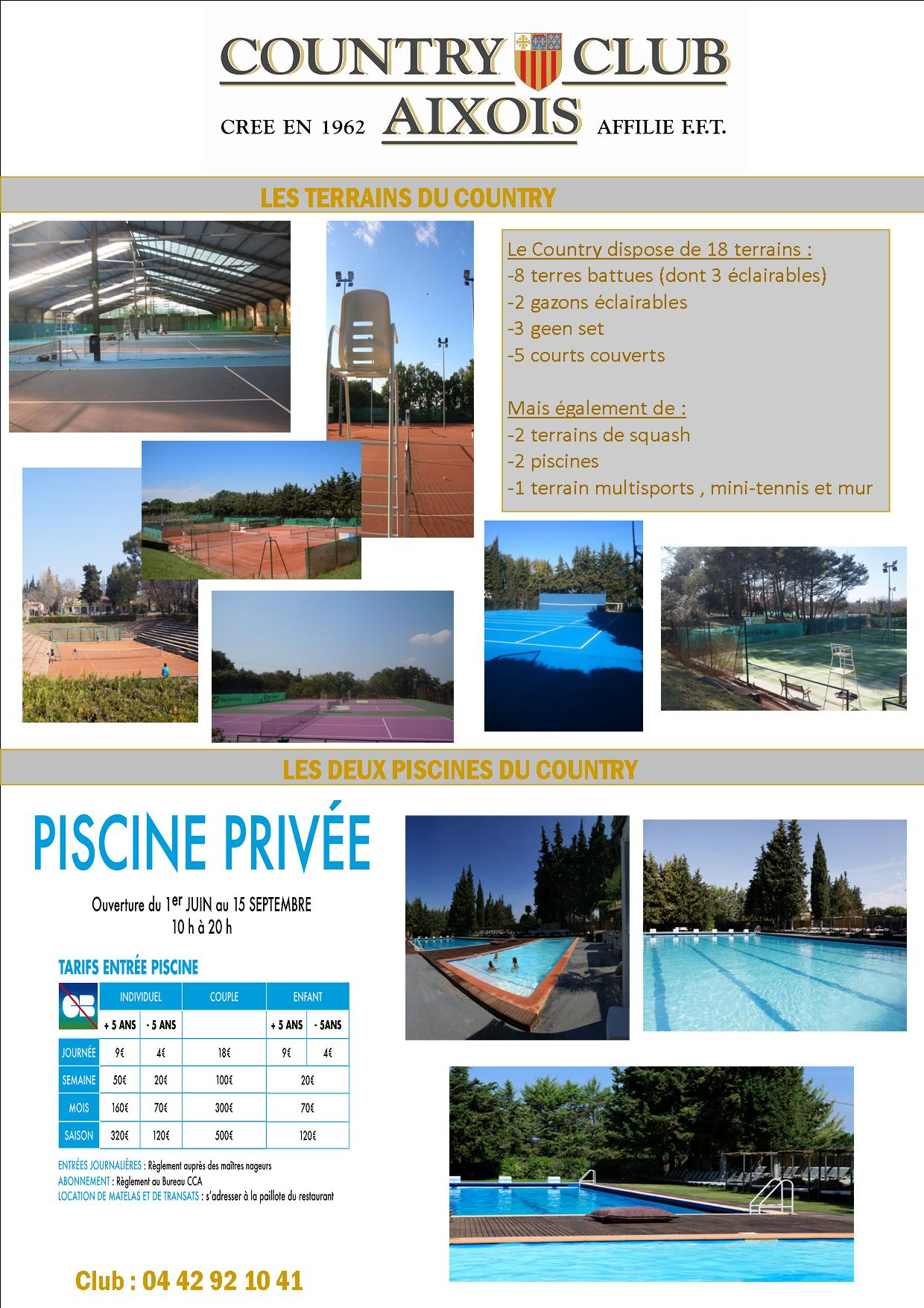 Vie du club country club aixois for Club piscine flyer